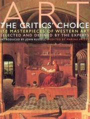 Cover of: Art - the Critics Choice | Marina Vaizey