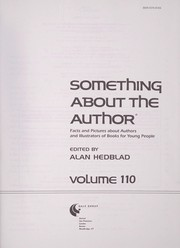 Cover of: Something About the Author v. 110 | Alan Hedblad