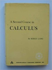 Cover of: A second course in calculus | Serge Lang