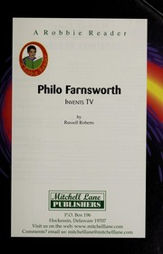 Cover of: Philo T. Farnsworth, invents TV | Roberts, Russell