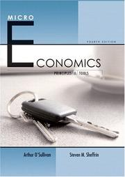 Cover of: Microeconomics: Principles and Tools (4th Edition) (O