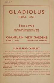 Cover of: Gladiolus price list | Champlain View Gardens
