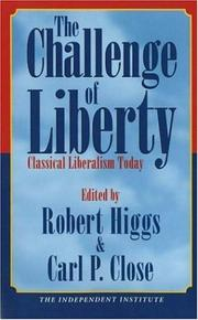 Cover of: The challenge of liberty |
