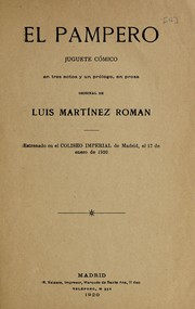 Cover of: El pampero