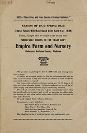 Cover of: Season of 1935 spring 1936 | Empire Farm and Nursery