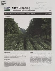 Cover of: Alley cropping | United States. Natural Resources Conservation Service