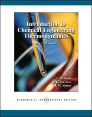 Cover of: Introduction to Chemical Engineering Thermodynamics, 7th Edition