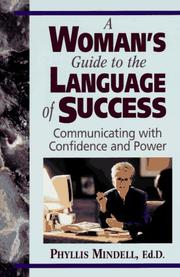 Cover of: A woman's guide to the language of success
