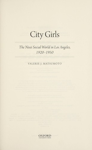 City girls by Valerie J. Matsumoto