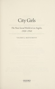 Cover of: City girls | Valerie J. Matsumoto
