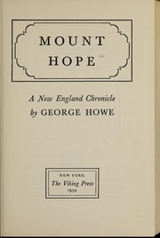 Cover of: Mount Hope | George Locke Howe