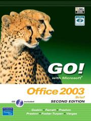 Cover of: Go! with Microsoft Office 2003 Brief 2e and Student CD (2nd Edition) (Go! Series) | Shelley Gaskin