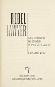 Cover of: Rebel lawyer