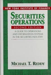 Cover of: Securities operations | Michael T. Reddy