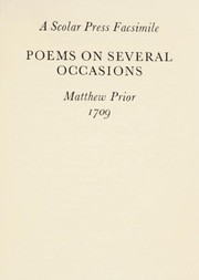 Cover of: Poems on Several Occasions | Matthew Prior