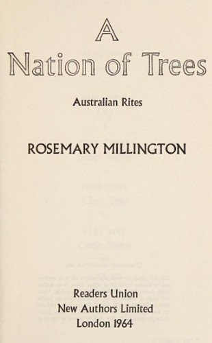 A nation of trees by Millington, Rosemary