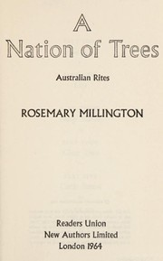 Cover of: A nation of trees | Millington, Rosemary