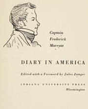 Cover of: A diary in America: with remarks on its institutions