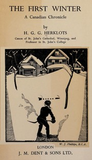 Cover of: The first winter | Hugh Gerard Gibson Herklots