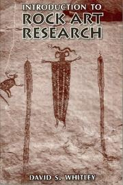 Cover of: Introduction to Rock Art Research