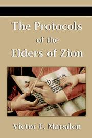 Cover of: The Protocols of the Elders of Zion | Nilus