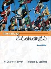 Cover of: International Economics (2nd Edition) | W. Charles Sawyer
