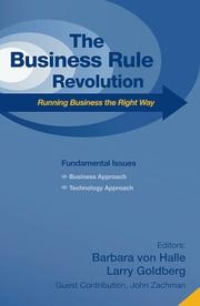 Business Rule Revolution by Barbara Von Halle