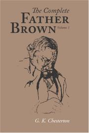 Cover of: The Complete Father Brown volume 1 | G. K. Chesterton
