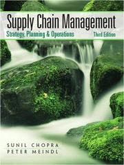 Cover of: Supply Chain Management (3rd Edition) | Sunil Chopra