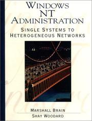 Cover of: Windows NT administration | Marshall Brain