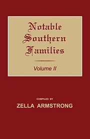 Cover of: Notable Southern Families. Volume II