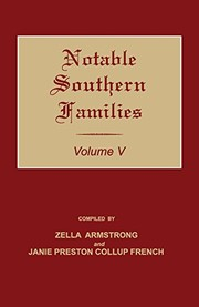 Cover of: Notable Southern Families. Volume V