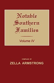 Cover of: Notable Southern Families. Volume IV