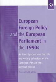 Cover of: European foreign policy and the European Parliament in the 1990s