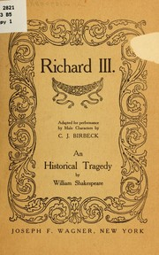 Cover of: Richard III |