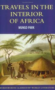 Cover of: Travels in the Interior of Africa (World Literature Series)