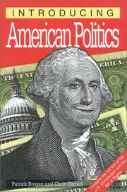 Cover of: Introducing American politics