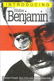 Cover of: Introducing Walter Benjamin (Introducing...(Totem))