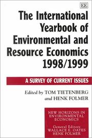 Cover of: The International Yearbook of Environmental and Resource Economics 1998/1999