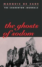 Cover of: The  Ghosts of Sodom | Marquis de Sade