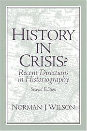 Cover of: History in crisis? | Norman James Wilson