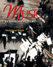 Cover of: A Brief History of Music in Western Culture