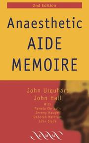 Cover of: Anaesthetic Aide Memoire | John Urquhart