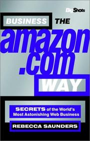 Cover of: Big Shots, Business the Amazon.com Way | Rebecca Saunders
