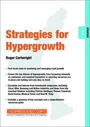 Cover of: Stategies for Hypergrowth