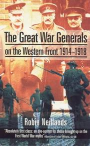Cover of: The Great War Generals on the Western Front, 1914-18