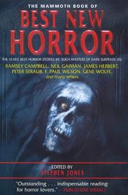 Cover of: The Mammoth Book of Best New Horror