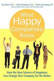 What happy companies know by Baker, Dan.