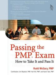 Cover of: Passing the PMP(R) Exam | Rudd McGary