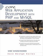Cover of: Core Web Application Development with PHP and MySQL (Core Series) | Marc Wandschneider
